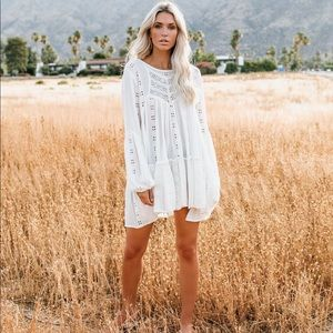 Free people Embroidered lace Tunic